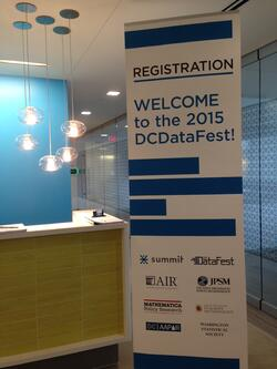ASA DataFest 2015 Registration Welcome Sign