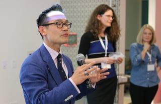Albert Lee speaking at ASA DataFest 2015