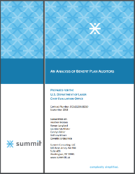 cover page - benefit plan auditors analysis