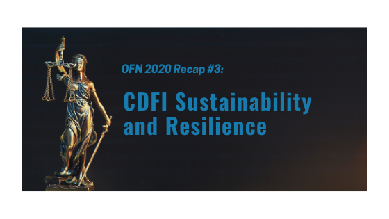 ofn recap 2 - CDFI Sustainability and Resilience