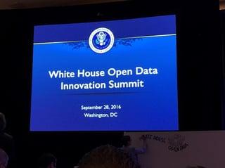 White House Open Data Innovation Summit